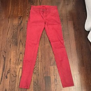 JBrand Size 25 Coated red jeans
